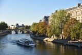 Bateau sur la Seine à Paris, France