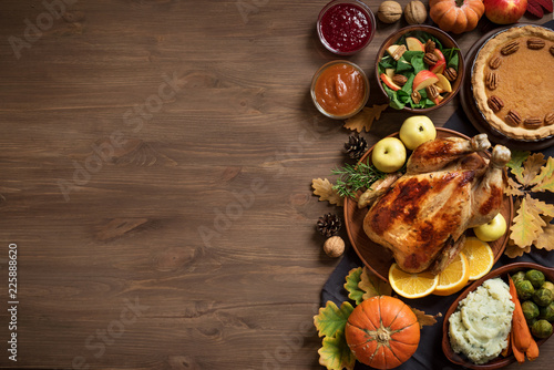 Thanksgiving dinner background - 225888620