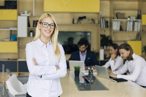 Sticker Portrait of young business woman
