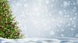Leinwanddruck Bild - weihnachtsbaum im schnee
