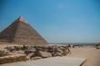 Giza pyramid complex landscape picture. Egypt.