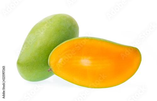 Foto Murales slice mango isolated on white background
