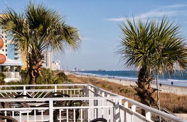 Myrtle Beach South Carolina Viewed from a Balcony © Laura Ballard