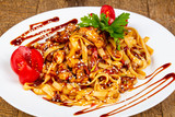 Wok noodle with chicken - 225928631