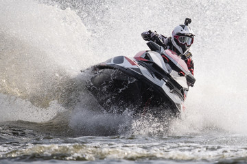 Dynamic action on a jet ski
