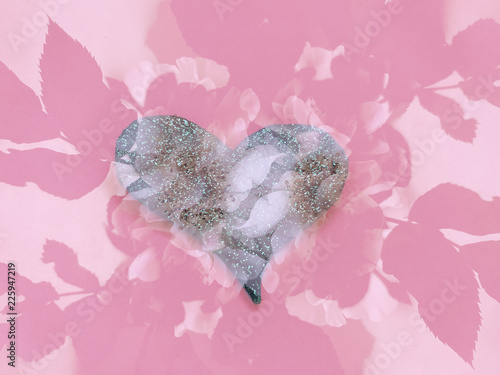 Decorative background of heart. Design elements for Valentine's Day - 225947219