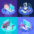 Nano Technology Isometric Design Concept