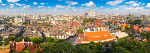 Leinwanddruck Bild Wat Saket temple in Bangkok