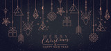 Fototapety Christmas and New Year background with geometric elements
