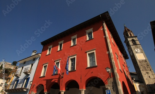 canvas print picture Altes Rathaus in Ascona