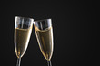 two glasses of sparkling wine - 225990699
