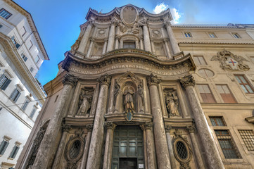 Church of San Carlo alle Quattro Fontane - Rome, Italy