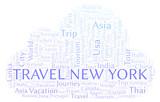 Travel New York word cloud. - 226004240
