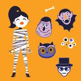 Cute Halloween characters set - 226006281