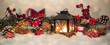 Leinwanddruck Bild - Nostalcig christmas decoration banner