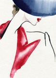 beautiful woman. fashion illustration. watercolor painting - 226010473