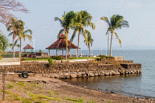 Lake side huts on Ometepe island, Nicaragua