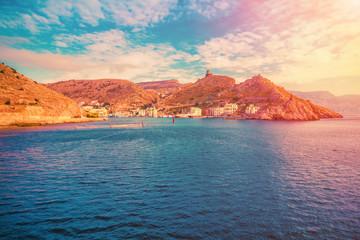 Sunset sea landscape. Scenic seascape nature © iryna1