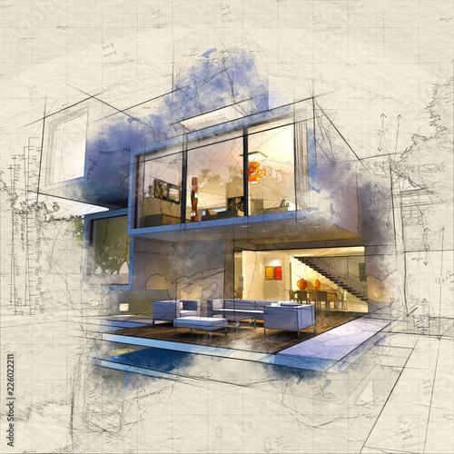 Leinwandbild Motiv Bunker house