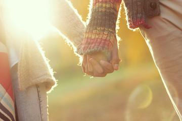 Romantic autumn stroll