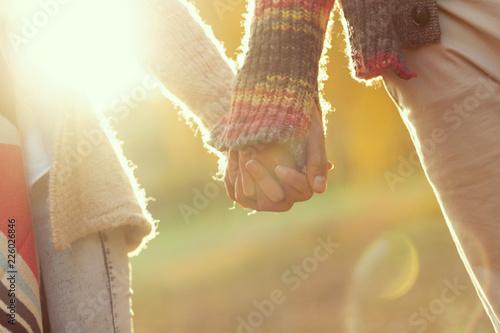 Leinwandbild Motiv Romantic autumn stroll