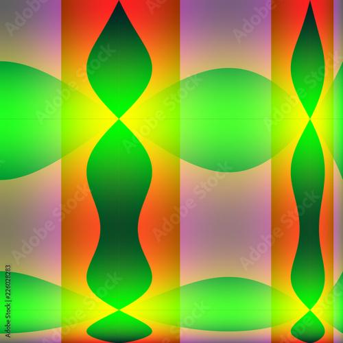 Leinwandbild Motiv Bunte Muster und Formen