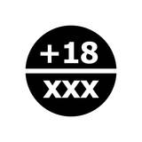 porn icon symbol. black isolated