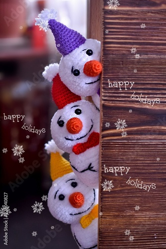 new year, Christmas, toys, knitting, needlework, surprise, children, gifts