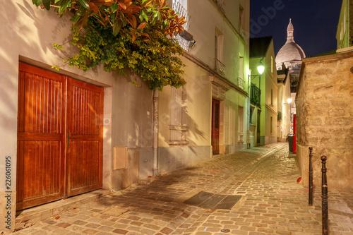 Paris. Old street in Montmartre.