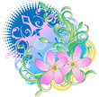 Two pink flower design - 226075476
