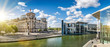 Leinwanddruck Bild - panoramic view at the government district in berlin