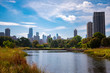 Chicago Skyline from South Pond in Lincoln Park