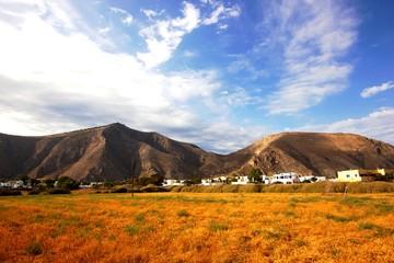 View of the Mesa Vouno mountain, Santorini, Greece © kayode