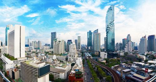 Fototapeten Bangkok Panorama view Cityscape tower in Bangkok city in Asia Thailand