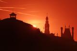 Paris city hall silhouette