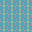 seamless flowers and swirls - 226171821