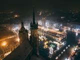 Kraków Bazylika Mariacka z powietrza - 226178232