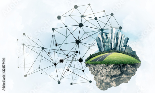 Concept of modern networking technologies and eco green construc