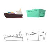 Vector design of goods and cargo icon. Collection of goods and warehouse vector icon for stock.