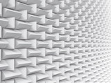 White pattern futuristic background texture 3d illustration. - 226186826