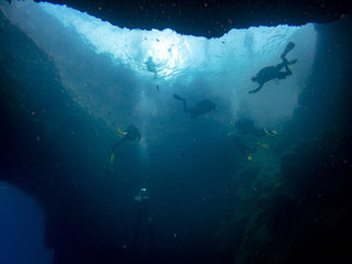 The Blue Hole in Gozo, Malta