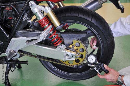 オートバイのメンテナンス