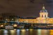 Paris riverside  at night