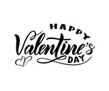 Happy Valentines day. Modern calligraphy. Isolated