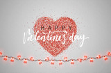Happy Valentines Day. Greeting Cards holiday. Phrase for design of brochures, posters, banners web. Vector illustration.