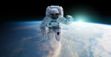 Astronaut floating in space 3D rendering elements of this image furnished by NASA - 226232407