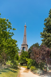Blue sky over world famous Eiffel tower in Paris - 226237057