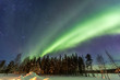Quadro Northern Lights over snow-covered forest
