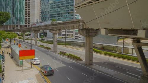 Kuala Lumpur downtown. City traffic timelapse