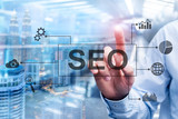 SEO - Search engine optimization, Digital marketing and internet technology concept on blurred background. - 226248887
